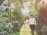 北京植物園溫室婚紗照冬季拍森系婚紗照很美,很仙兒