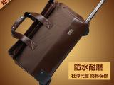 博牌复古手提拉杆包女 18寸牛津布旅行箱包男 大容量时尚行李包