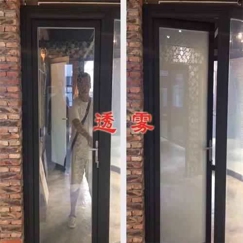 调光玻璃效果-欧毅建筑设计隔断幕墙 雾化玻璃