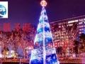 河北大型圣诞树工厂商场圣诞装饰真树缠灯墙体灯饰画