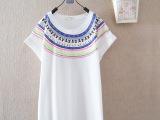 2014夏季新款韩版民族风蝙蝠袖短袖t恤女装批发 一件代发 13