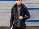 冬季男士外套青年厚长款棉衣男2016新款