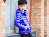 中小男女童装外套批发轻薄型保暖优质连帽生物绒儿童棉服