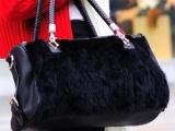皮草女包包毛毛包仿兔毛包2012新款冬季