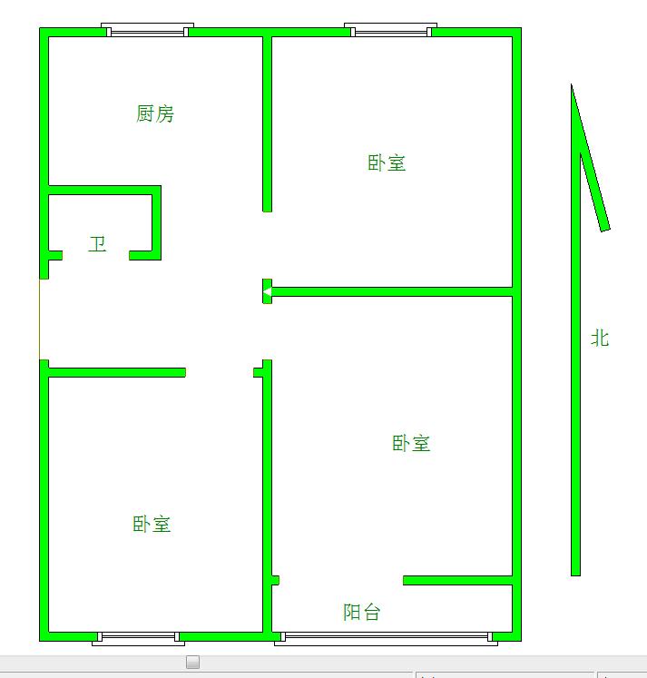 东关 菜市新村 3室 0厅 70平米 整租