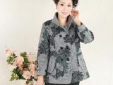 2013新款中老年女装外套 秋装中年妇女长款呢风衣妈妈装淘宝货源