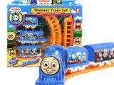 68 地摊货源热卖塑料车模型玩具儿童仿真电动托马斯小火车套装