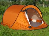 高档防风防雨三人双层弹开帐篷 速开帐篷 懒人帐篷 三口之家帐篷