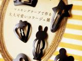 饰品批发日本多造型亚光黑烤漆发夹发饰BB夹 10个一卡 不足不发