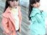 厂家直销2013秋冬装 外贸女童装 大童韩版时尚披风领大童风衣外