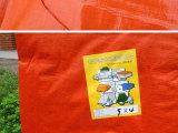 蓝橘色防雨布防雨篷布双色防雨塑料布
