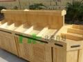 北泰商超木质货架超市钢木货架