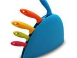 五彩礼品厨房刀具5件套 厨师刀/面包刀/冻肉/水果刀/万用刀