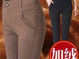 冬季加绒加厚中老年女裤长裤高腰直筒裤加肥