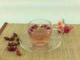 正品带碟小把杯花茶杯耐热玻璃茶具咖啡杯小品茗杯杯子玻璃杯