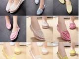 2014新款孕妇单鞋软底女平跟厚底鞋网纱豆豆鞋浅口舒适女鞋
