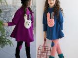童装一件待发韩版新款女童春装套装中大童纯棉套装两件套