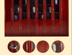 重庆厂家直销带锁实木书架两门书柜三门书柜带玻璃门五门组合书柜