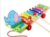 象钢片手敲琴 拖拉车木制八音宝宝敲击 儿童益智类玩具2岁