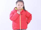 2015翔键服饰冬季新品女童连帽时尚棉衣防风外套