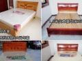 出售高档实木豪华床350元,高档床垫260元,包送