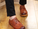 厂家直销春夏季布洛克男鞋休闲鞋英伦真皮皮鞋男士低帮鞋潮流鞋子