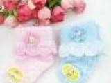童袜子女童韩版花朵袜夏季薄款宝宝花边蕾丝袜婴儿翻边袜短袜镂空