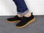 鞋男学生擦色成熟反绒皮软底防滑鞋系带休闲软皮鞋
