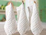新品 全棉水洗纱布 超柔软6层医用小方巾婴儿口水巾 洗脸巾 手帕