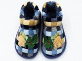 2014童鞋冬季新款上市 韩版可爱绣花卡通图案大童包跟棉鞋整箱批