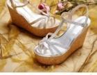 达芙妮凉鞋,银色,全新99包邮