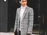 冬季毛呢大衣男中长款羊毛呢青年修身妮子男装男士呢子风衣外套厚