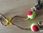 玛力露商城8字加双球 宠物棉绳玩具 狗狗洁齿磨牙玩具