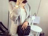 2015韩版女装秋冬开衫新款小香风珍珠针织衫秋季长袖毛衣外套女