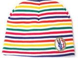 新款韩版宝宝全棉胎帽 秋冬季婴儿套头帽 儿童七彩条纹帽子批发