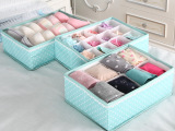 天纵 可水洗内衣收纳三件套 内衣收纳盒 储物盒 超值组合