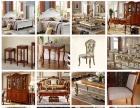 供应水曲柳新中式家具全实木布艺梳妆床尾小妆凳换鞋凳批发