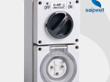 赛普IP66工业防水开关组合插座SP-5