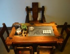 老船木茶桌乌金石茶桌椅组合仿古家具客厅功夫沉船木茶台实木茶几