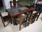 老船木沙发椅子组合客厅沙发茶几实木现代中式家具