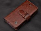 iphone5S手机套保护套真皮套壳带磁扣代理翻盖外贸单批发
