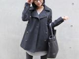 2011秋冬装 女装大翻领时尚大衣双排扣羊毛呢加厚外套257