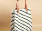 厂家直批 海军风 条纹 新款日系帆布包手提包袋单肩包书袋女包