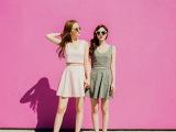 2015夏装新款闺蜜装性感露脐背心+高腰半身裙A字套装 一件代发