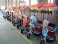 毛绒动物机器人车广场机器人拉车动物拉车黄包车
