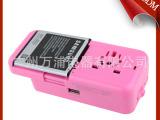 万浦专利款多功能插座充电器 锂电池旅行充电器 USB全球通充电器