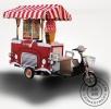 2017最新流动冰淇淋车,手推无电流动冰激凌车100元