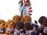 可爱布娃娃泰迪犬儿童毛绒玩具 穿衣泰迪狗贵宾犬 仿真款狗狗公仔