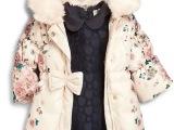 2015冬专柜正品童印花花朵棉服 婴童 一件代发 出口外贸原单