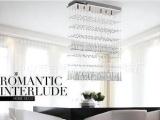 豪华水晶客厅长方形吊灯饰现代简约卧室餐厅